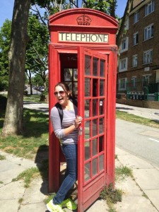I found a phone booth on our walk!